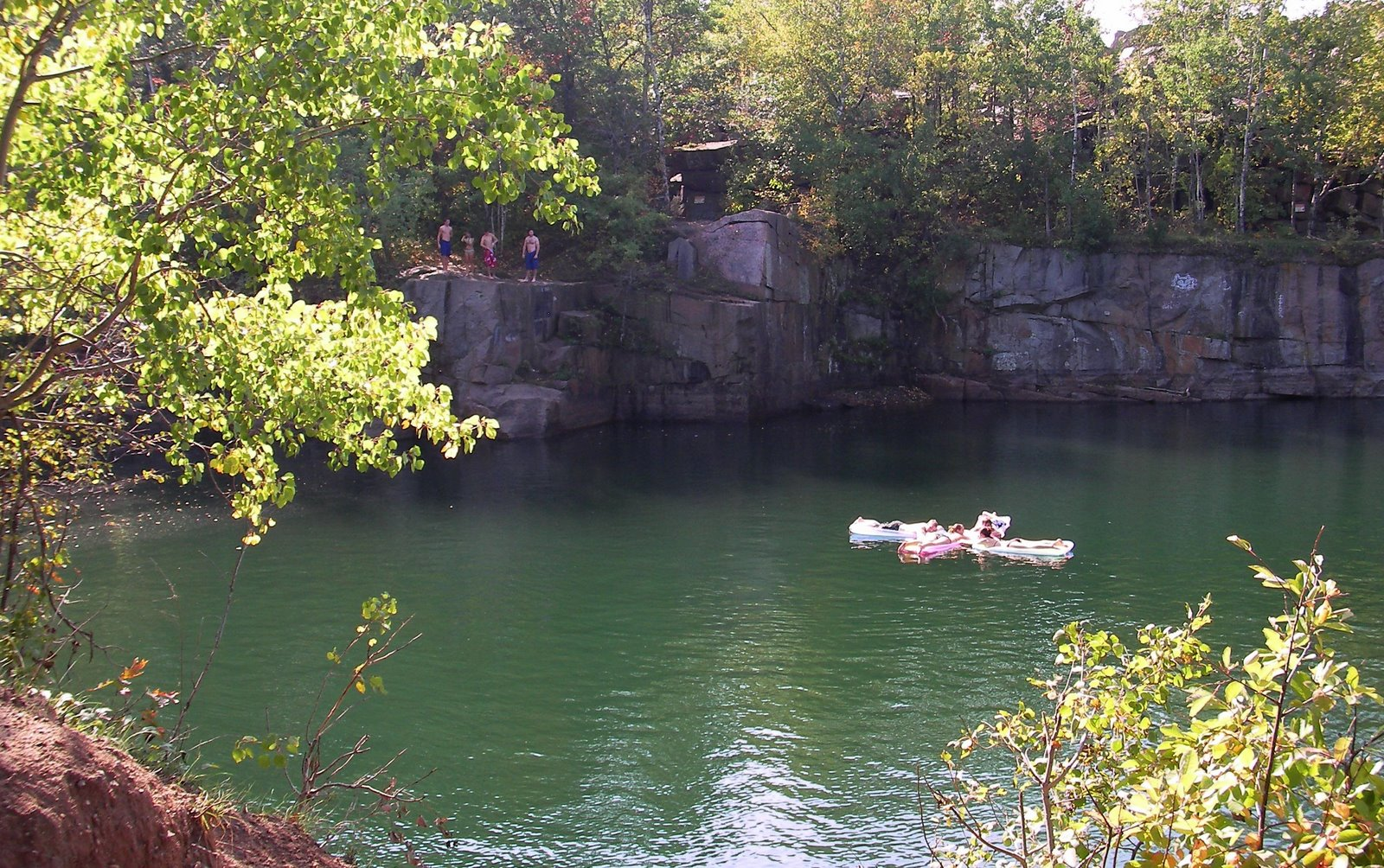 melrose deep 7 swimming hole, quarry park