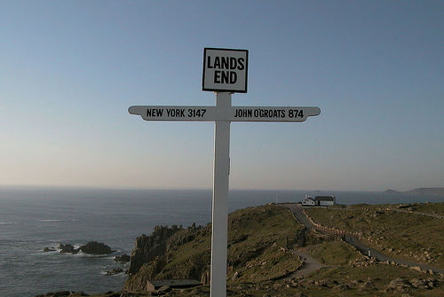 Lands End sign, England