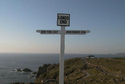 Lands End sign, England