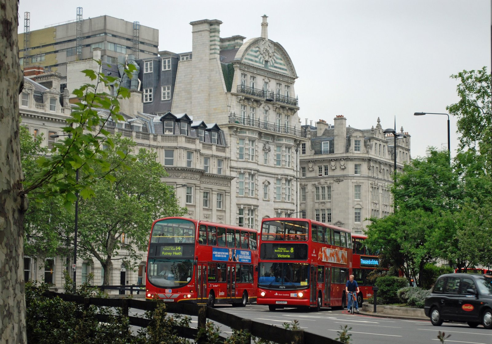 red buses, london