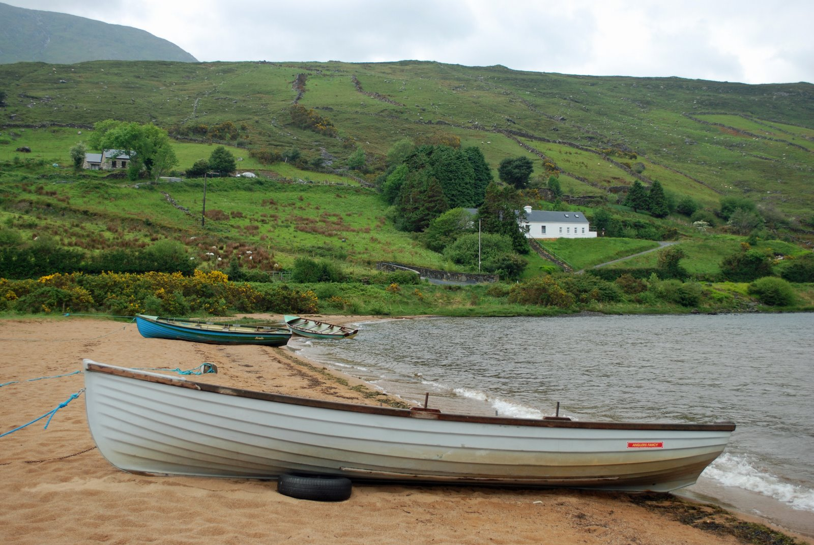 boat, lough nafooey, county galway