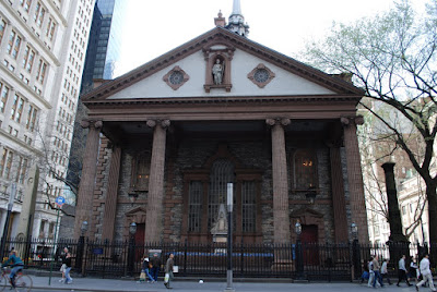 St_ Paul's Chapel At Ground Zero http://www.ramblingtraveler.com/2009/05/st-pauls-chapel-in-manhattan.html