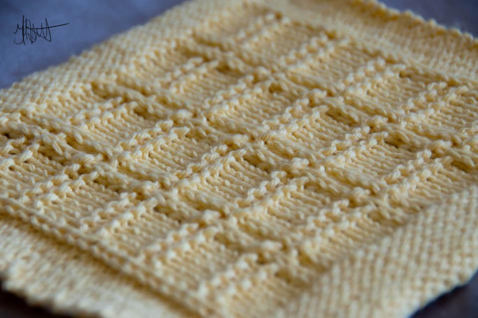 Washcloth Or Dishcloth Knitting Pattern, Grandma's Favorite