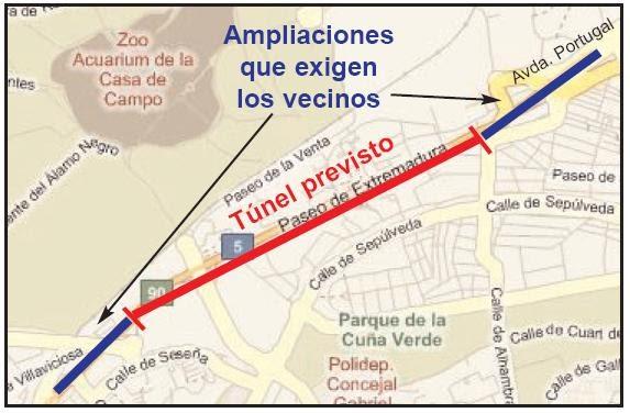 El soterramiento de la a 5 puede acabar en chapuza for Oficina de extranjeria avenida de los poblados