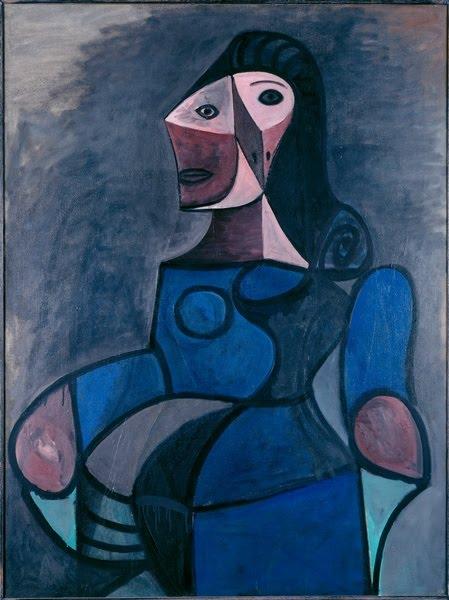 CNDP Erpent - Beaubourg 2010: Pablo Picasso - Femme en bleu - 1944