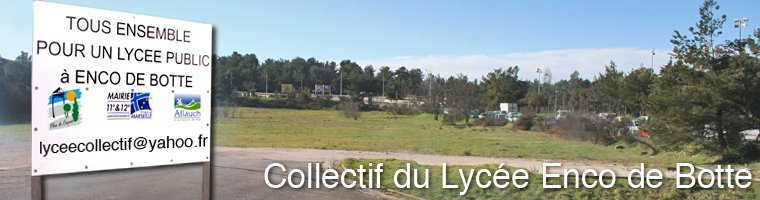 Blog officiel du Collectif du Lycée Enco-de-botte
