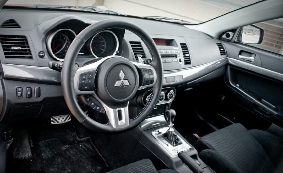 2010 Mitsubishi Lancer Sportback Ralliart Interior View