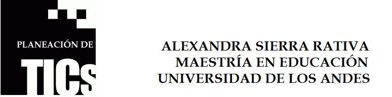 TECNOLOGÍAS DE LA INFORMACIÓN Y LA COMUNICACIÓN- TIC. PROFE ALEXANDRA SIERRA