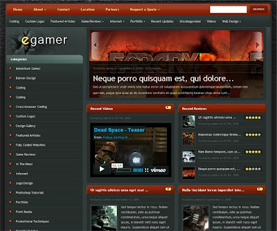 Baixar Theme eGamer - Template Wordpress