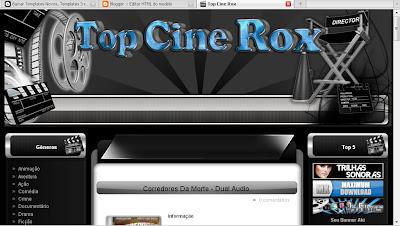 Template Top Cine Rox para blogger gratis
