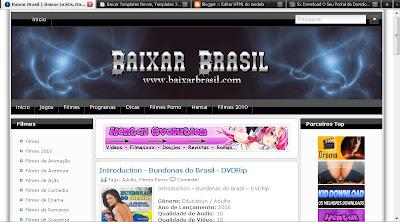 Template do BaixarBrasil Completo com numeração para Blogger