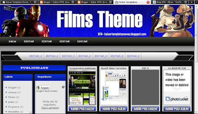 Template para blogs de filmes