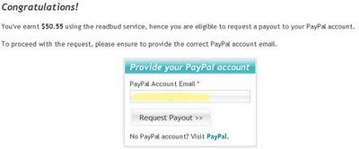 Readbud redeem payment