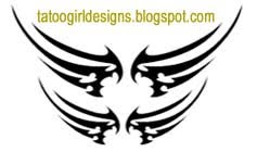 double wings lowerback tattoo picture design