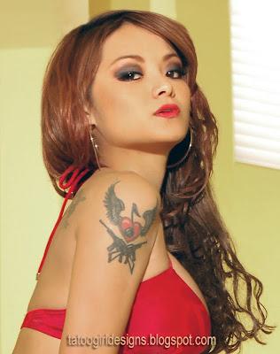 tila tequila wings arm tattoo
