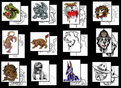 new dog tattoo designs pictures