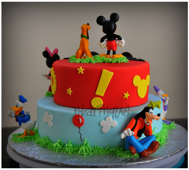 Modelo De Bolo Para Aniversario Do Mickey