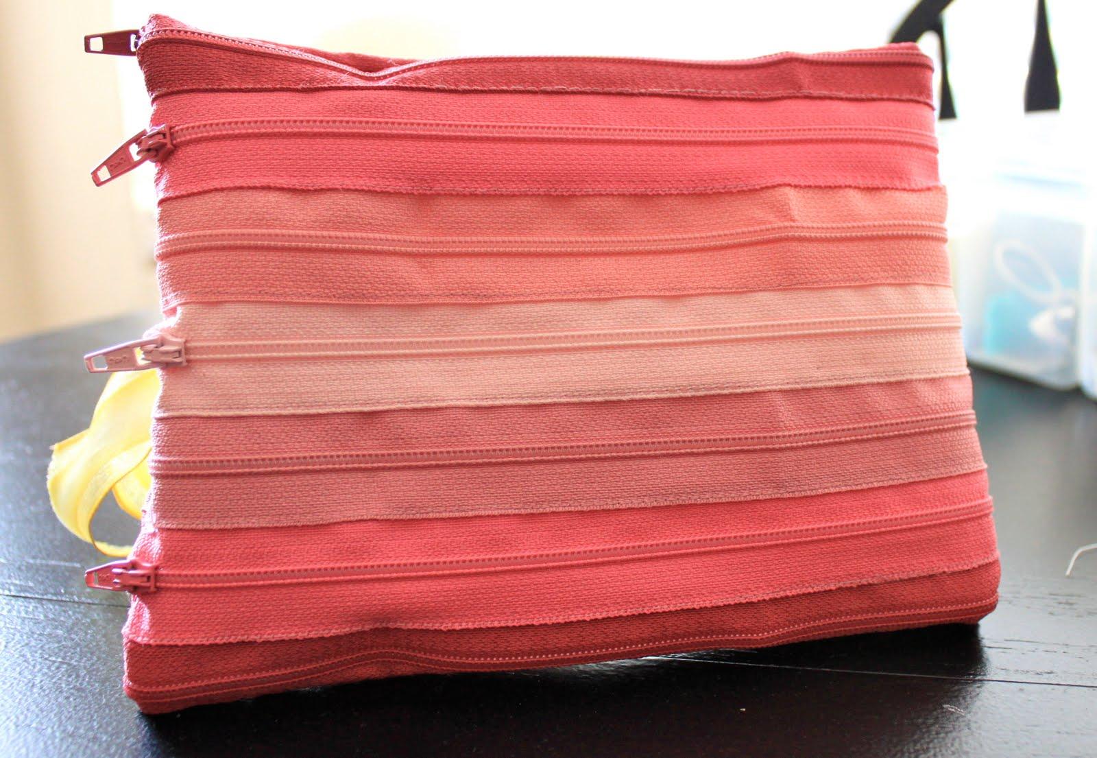 everywhere orange: zipper bag: tutorial