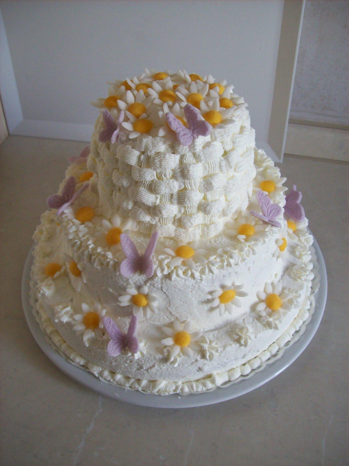 Cake Design In Kl : Torte Fatate: Torta margherite e farfalle