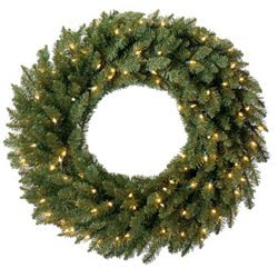 Pre Lit Christmas Wreath