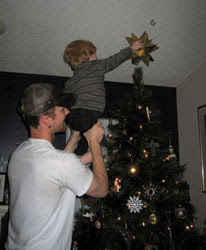 Placing Tree Topper