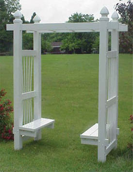 Garden Arbor with Benches
