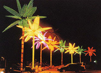 Tiara Lighted Palm trees