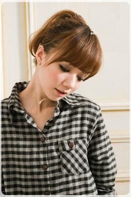 日感風尚˙格紋口袋設計毛料造型長版襯衫6.jpg