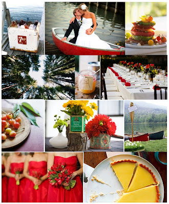 Inspiration Board Lakeside Wedding