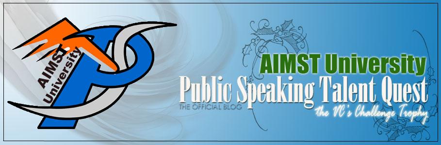 AIMST Public Speaking Talent Quest 2008