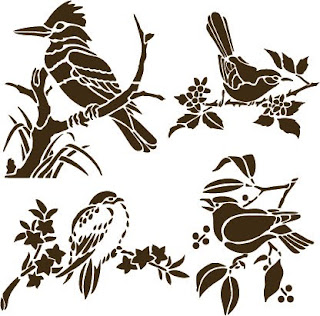 Free SVG Home Decorative Stencil Birds