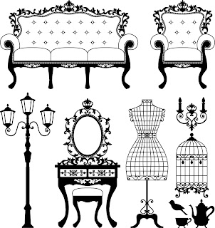 Vintage Furniture | Free Digi Stamps