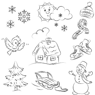 Free Digi Stamps | Winter
