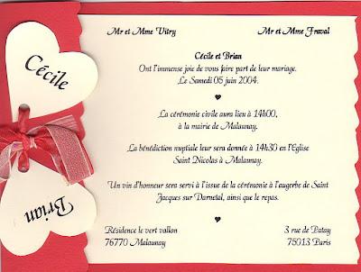 Francais Langue Etrangere A1 Faire Part De Mariage 1