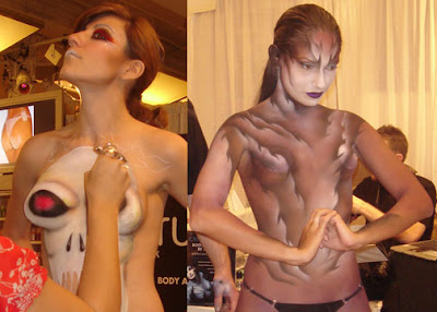 Body Painting Art Show In Festival In Europe