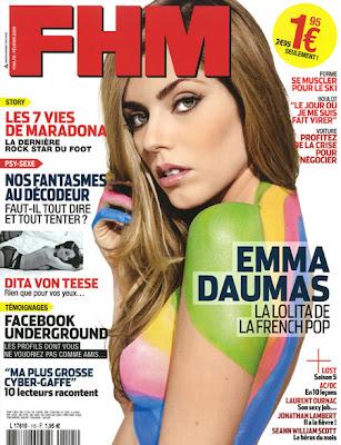 Emma Daumas, FHM Magazine Cover