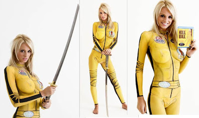 Kill Bill Movie In Great Body Art Painting
