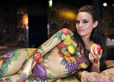 Tutti Fruity In Body Art Painting Looks So Fresh