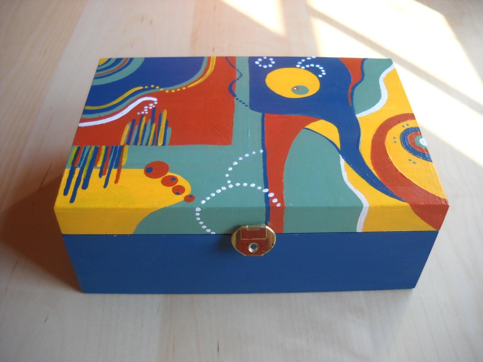 Cajas de madera pintadas a mano imagui for Cajas pintadas a mano