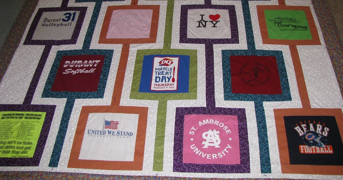 Keepsakesewing t shirt quilt for graduation for How to make t shirt quilts easy