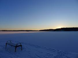 Solnedgång över Lindesjön, december 2010