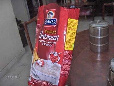 aluminium coated Quaker oats plastic bag