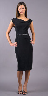 Black halo dress