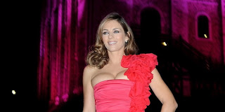 Elizabeth Hurley Tower of London