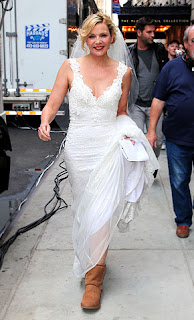 Kim Catrall wedding dress