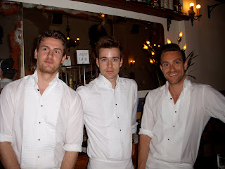 Hot waiters in Montreal