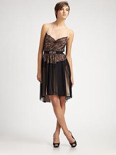 BCBG Lace Bodice dressborder=