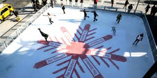 Standard New York ice skating rink