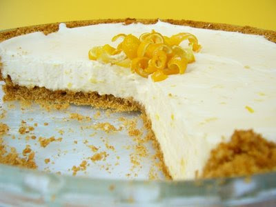 Lemon Pie decorated with lemon