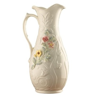 Belleek Pitcher - 10 inch ceramic pitcher